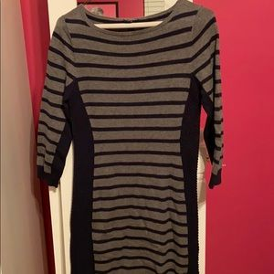 Blue and gray long sleeve sweater dress size XS